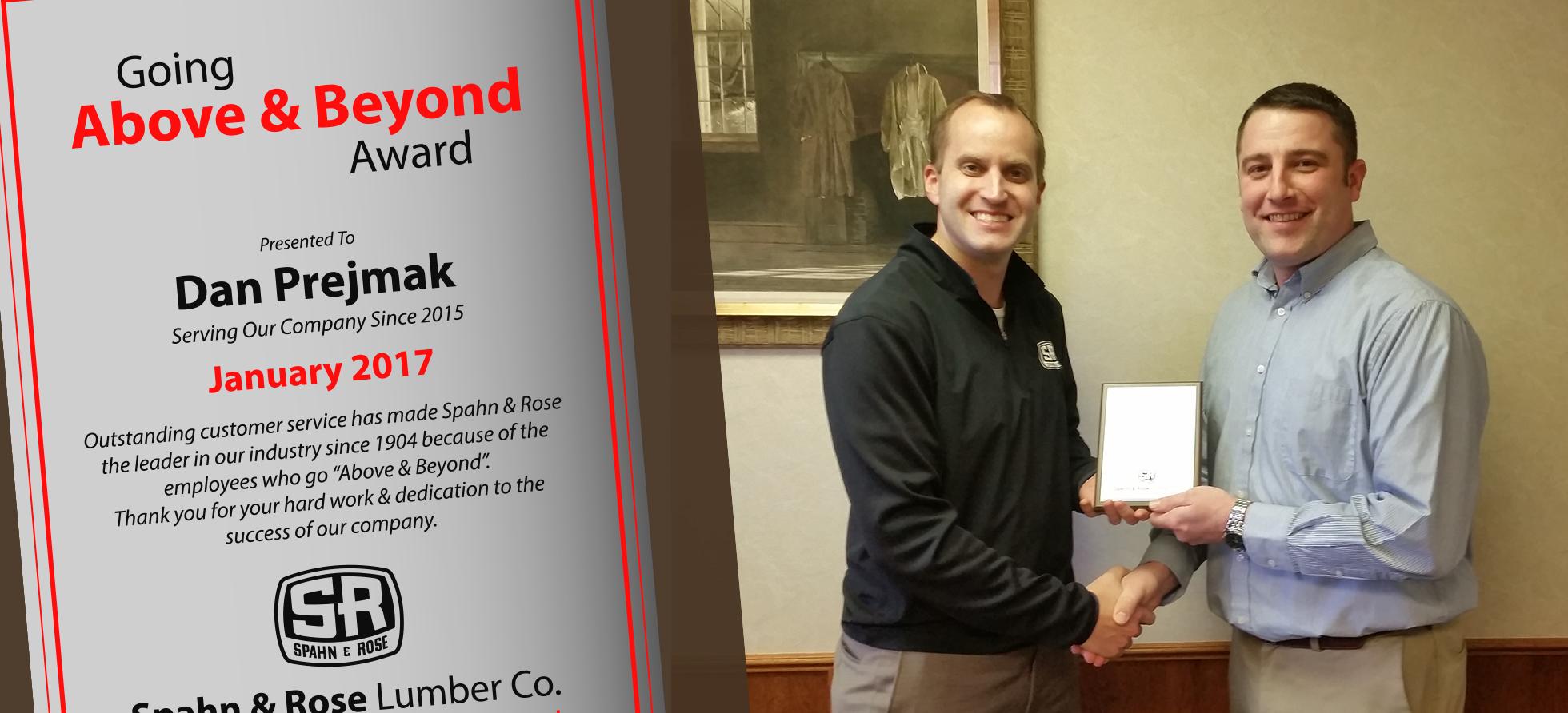Dan Jan Above and Beyond Award