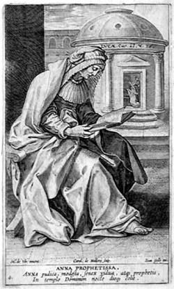sveta Ana - vdova in prerokinja