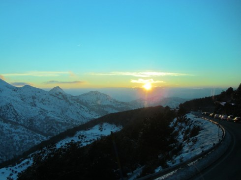 sierra nevada, spain, granada, snow, powder, sunset