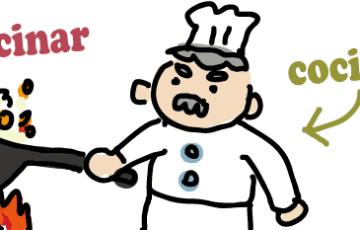 スペイン語 料理する 料理人