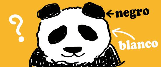 スペイン語 黒 白 パンダ