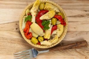 Marinated Artichokes Appetizer with Piquillo Peppers