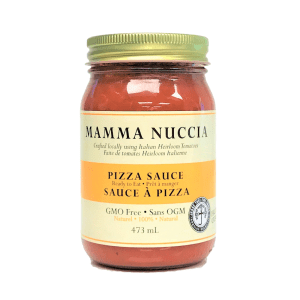 Pizza sauce crafted in Canada with Italian Heirloom Tomatoes