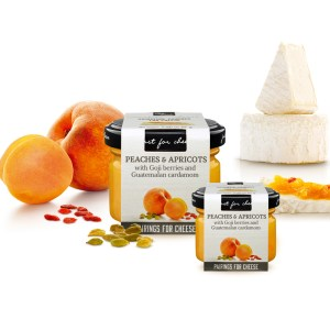 Cheese pairing peaches and apricots