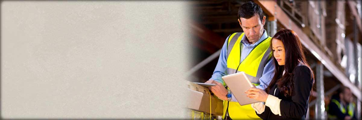 workers looking at paperwork