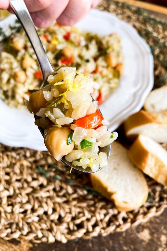 Mediterranean Lemon-Garlic Rice