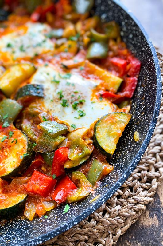 One-Pan Breakfast Skillet with Vegetables & Eggs