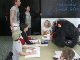 Dragana Sapanjoš, Workshop with children, May 2013, MMSU