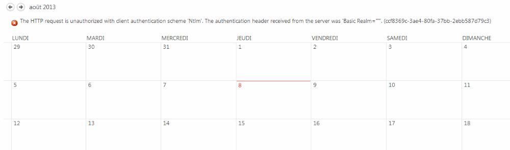 Ajouter un calendrier Exchange à SharePoint 2013 (3/3)