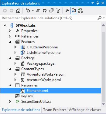 Création d'une liste externe SharePoint 2013 en programmation (4/6)