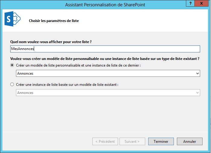 Créer une colonne de données externes et la référencer dans une liste (5/6)