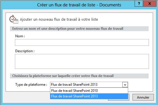 Utilisation des workflows SharePoint 2013 (4/6)