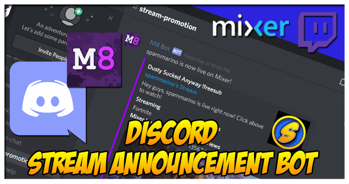 discords stream announcement bot m8