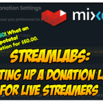 streamlabs setting up a donation link
