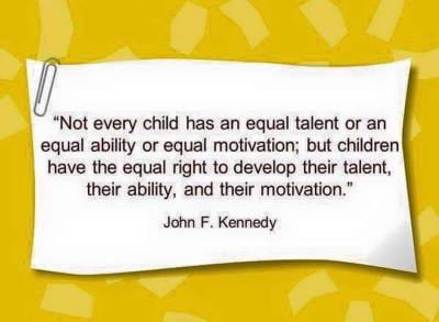 not every child has an equal talent