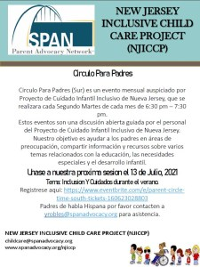 NJICCP Spanish Flyer