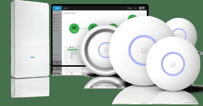 unifi-overview Specialized Projecten & Installatie's, WiFi en netwerk oplossingen Voor een stabiele netwerk omgeving leveren en installeren wij Enterprise graded WiFi- en netwerksystemen.