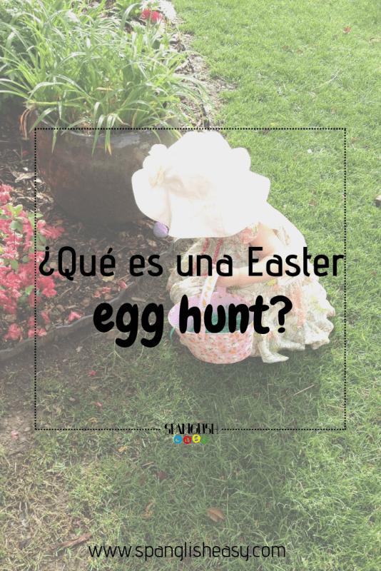 imagen pinterest - niña buscando huevos de Pascua.