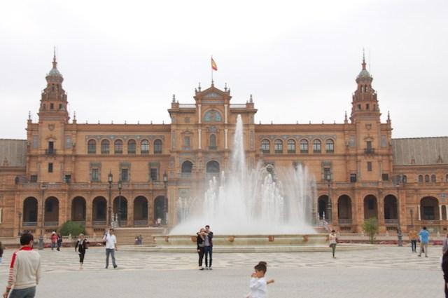 Plaza de Espana var vakkert! Ferdig til verdensutstillingen i 1929