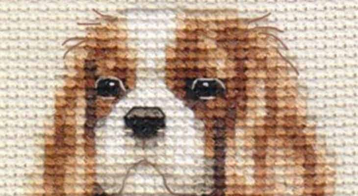 cavalier king charles spaniel embroidery patterns