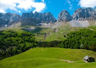 Das Val d'Ansó, im Westen. Hier ist das Aragonesische noch sehr lebendig.