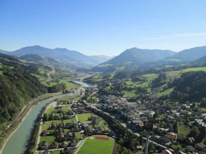 El valle y el Salzach, mirando hacia el sur.