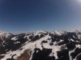 Volando sobre los Alpes.