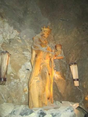 Santa Bárbara, patrona de los trabajadores de la mina.
