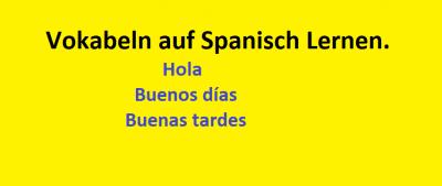 Vokablen auf Spanisch lernen