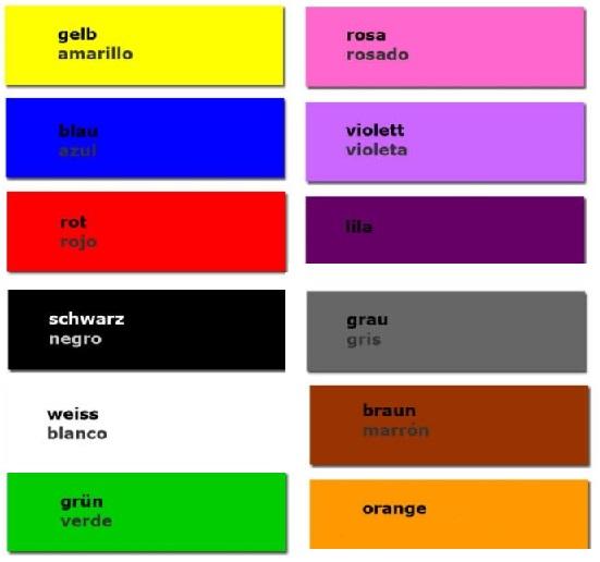 Farben auf Spanisch