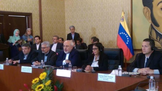 Mohammad Yazad Zarif y Delcy Rodríguez