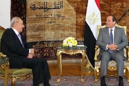 Nabih Berri y Abdul Fattah al Sisi