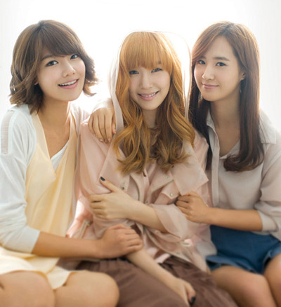From left, Soo-young, Tiffany, and Yu-ri /Courtesy of SM Entertainment