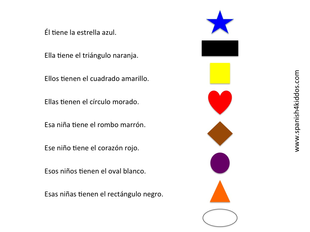 Learning Shapes With Colors Spanish4kiddos Educational