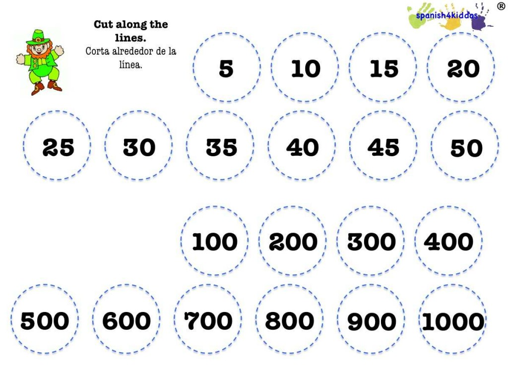 Counting Spanish Numbers As A Learning Activity