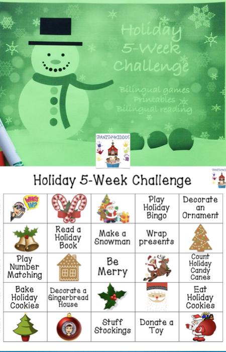 bilingual holiday challenge