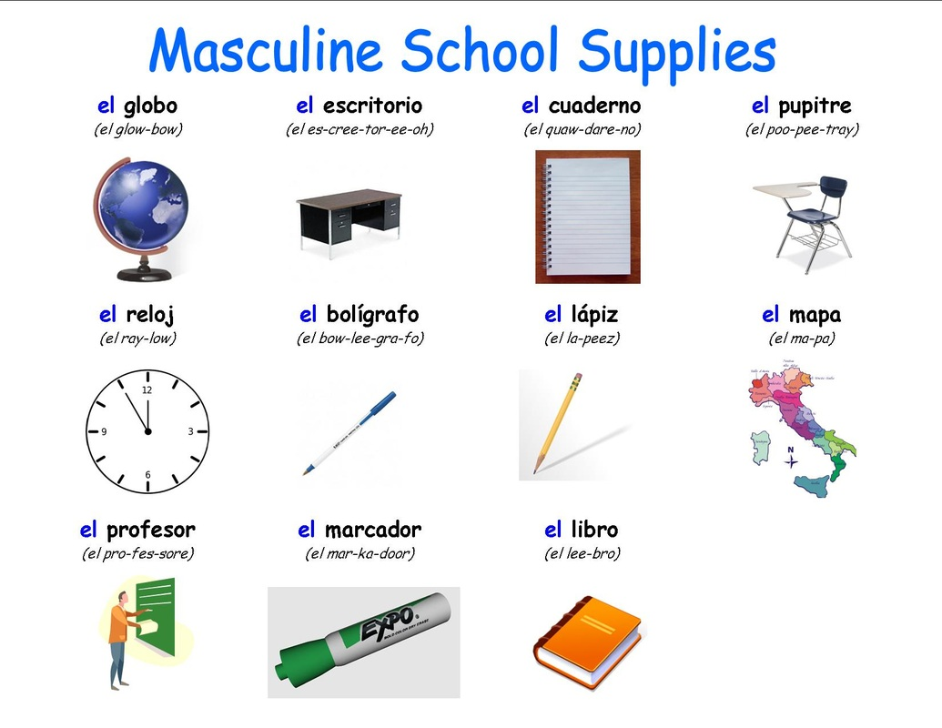Masculine School Supplies