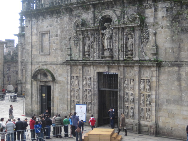 Puerta Santa in Santiago, opens during Holy years.