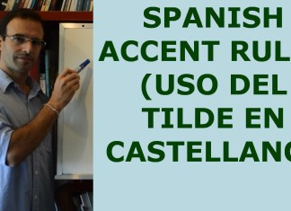 Spanish accent rules with clear examples and rules of hiatus and diphthongs in Spanish