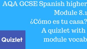 AQA GCSE Spanish higher Module 8.1 ¿Cómo es tu casa? Quizlet