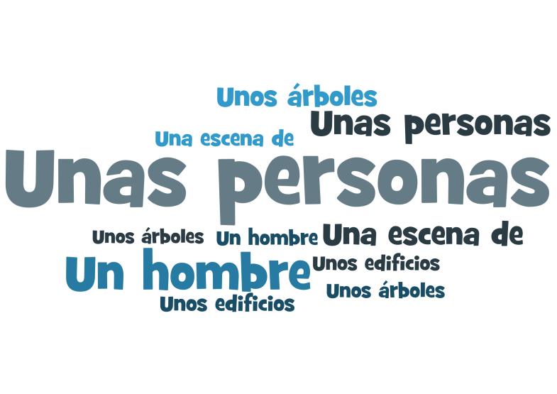 GCSE Spanish describing a photo - people, things