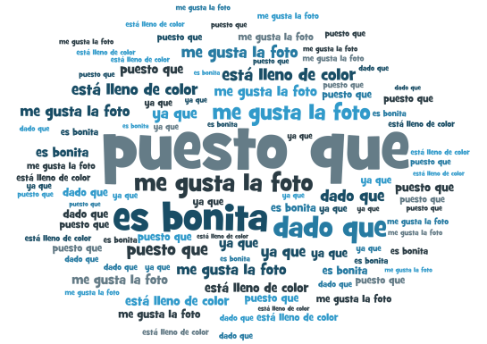 GCSE Spanish describing a photo - connectives