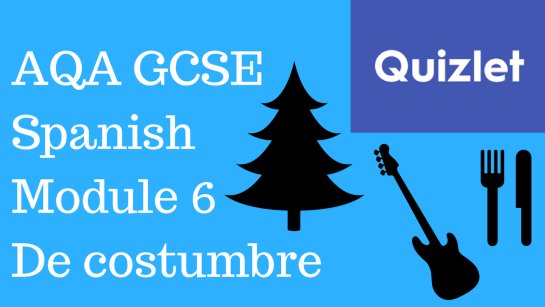 GCSE Spanish – Quizlets for AQA Higher Module 6