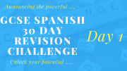 GCSE Spanish 30 day revision challenge - day 1