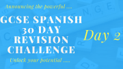 GCSE Spanish 30 day revision challenge – day 2
