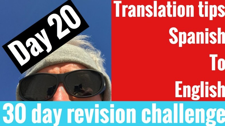 Spanish GCSE 30 day challenge   day 20
