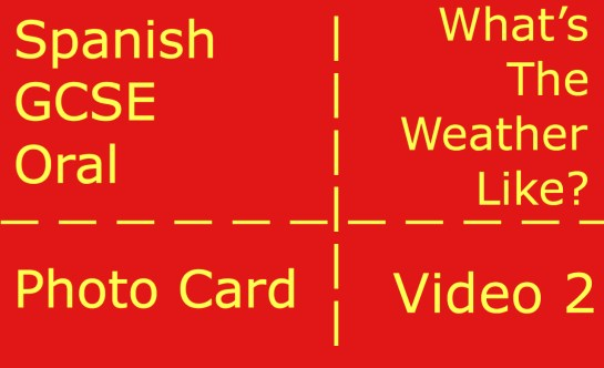 GCSE Spanish oral - photocard - what's the weather like?
