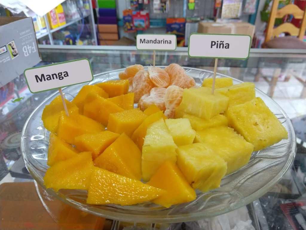 Fresh fruit Spanish class Mango Piña Spanish Immersion Program
