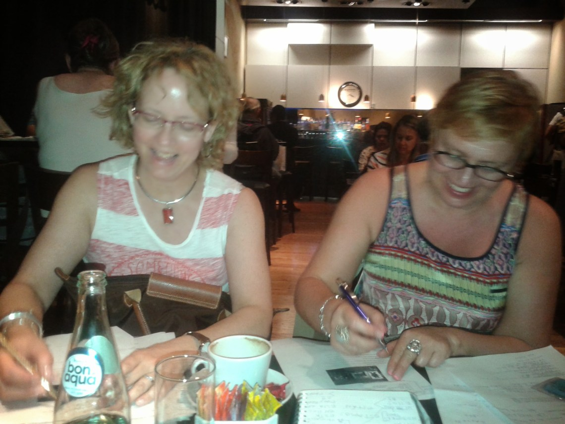 Kathy and Katina learning Spanish in Buenos Aires