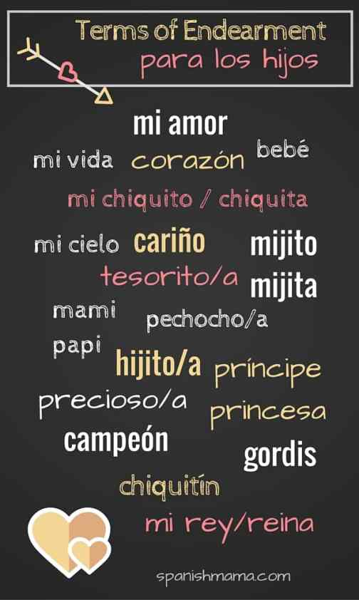 Spanish terms of endearment for kids